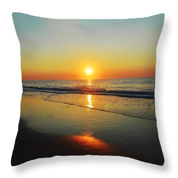 All That Shimmers Is Golden Throw Pillow