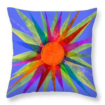 All The Colors In The Sun Throw Pillow
