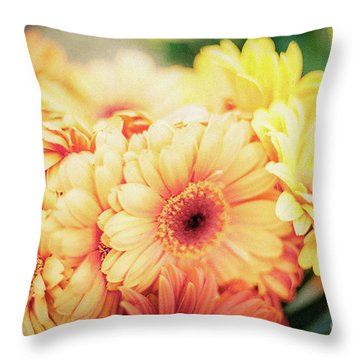 Throw Pillow featuring the photograph All The Daisies by Ana V Ramirez