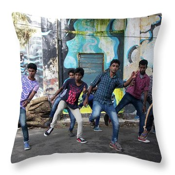 All The Moves Throw Pillow