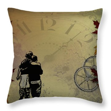 All The Time In The World Throw Pillow by Bill Cannon