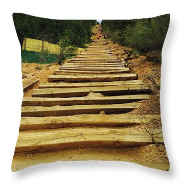 All The Way Up Throw Pillow