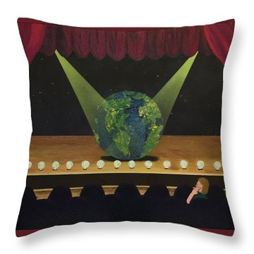 All The World's On Stage Throw Pillow
