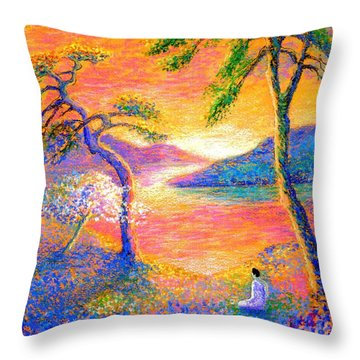 Buddha Meditation, All Things Bright And Beautiful Throw Pillow