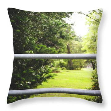 Throw Pillow featuring the photograph All Things Green by Shelby Young