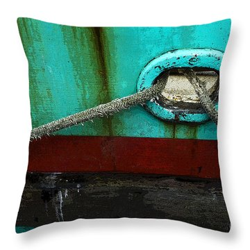All Tied Up Throw Pillow by Bob Christopher