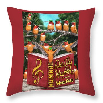 All Together Now. Throw Pillow