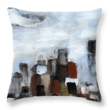 Throw Pillow featuring the painting All Together by Rick Baldwin