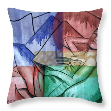 All Wet Throw Pillow by Anthony Falbo