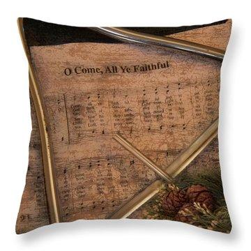 All Ye Faithful Throw Pillow