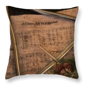 All Ye Faithful Throw Pillow