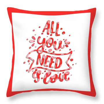 Throw Pillow featuring the digital art All You Need Is Love by Edward Fielding
