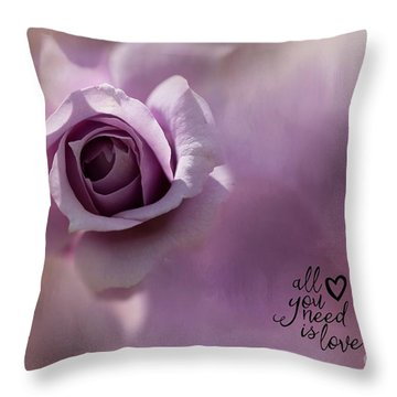 All You Need Is Love Throw Pillow by Eva Lechner