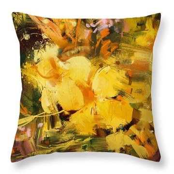 Allamanda Throw Pillow