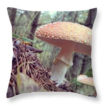 Alle Unter Einem Hut.  #mushrooms Throw Pillow