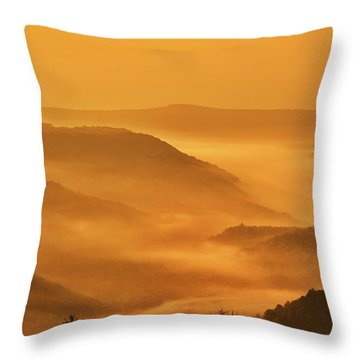 Allegheny Mountain Sunrise Vertical Throw Pillow