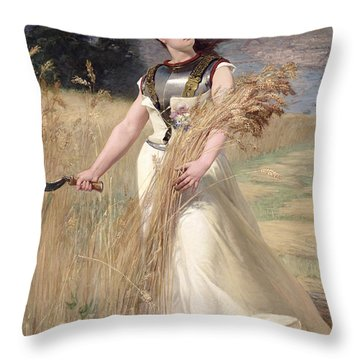 Allegory Of France Throw Pillow by Georges Louis Poilleux Saint Ange