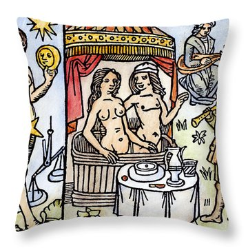 Allegory Of Venus, 1496 Throw Pillow by Granger