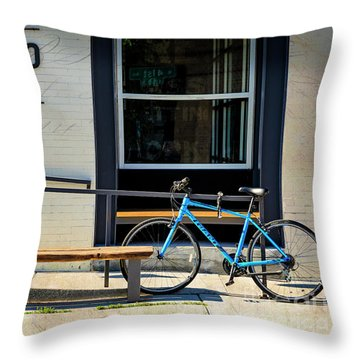 Throw Pillow featuring the photograph Allegro Giant Bicycle by Craig J Satterlee