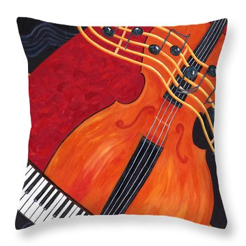 Throw Pillow featuring the painting Allegro by Karen Zuk Rosenblatt
