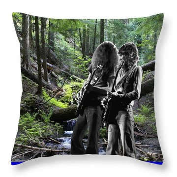 Throw Pillow featuring the photograph Allen And Steve On Mt. Spokane by Ben Upham