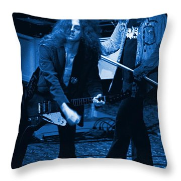 Allen Collins And Ronnie Van Zant Same Old Winterland Blues Throw Pillow