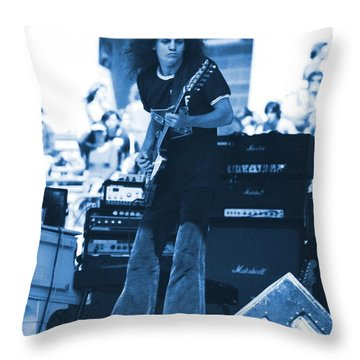 Allen Collins In Blue Oakland 1975 Throw Pillow