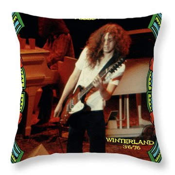 A C Winterland 1976 Throw Pillow