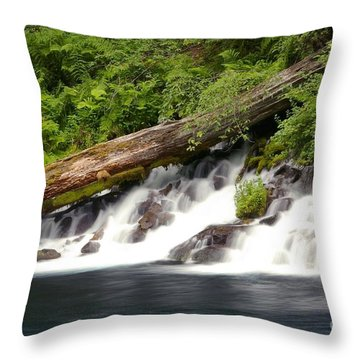 Allen Springs On The Metolius River Throw Pillow