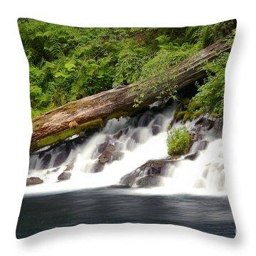 Allen Springs On The Metolius River Throw Pillow
