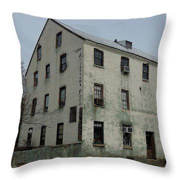 Allentown Gristmill Throw Pillow by Steven Richman