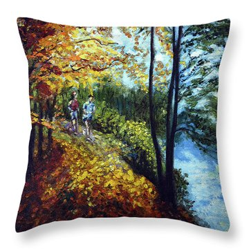 Alley By The Lake 1 Throw Pillow by Harsh Malik