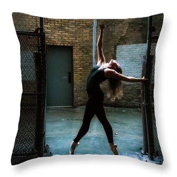 Alley Dance Throw Pillow