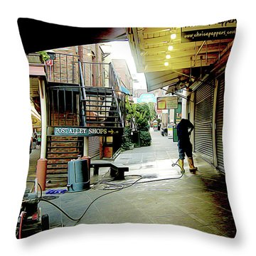 Alley Market End Of Day Throw Pillow
