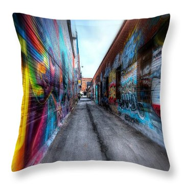Throw Pillow featuring the photograph Alley by Michaela Preston
