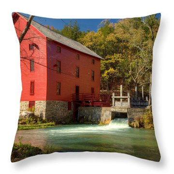Throw Pillow featuring the photograph Alley Mill by Harold Rau