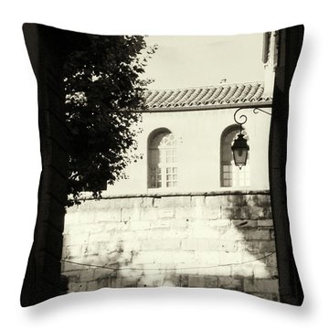Throw Pillow featuring the photograph Alley Mystery by Rasma Bertz