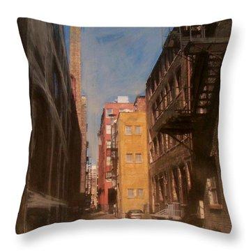 Alley Series 2 Throw Pillow by Anita Burgermeister