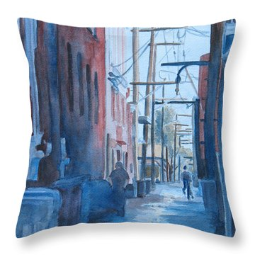 Alley Shortcut Throw Pillow by Jenny Armitage