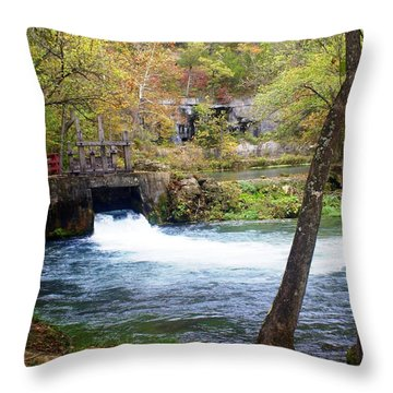 Alley Spring Throw Pillow by Marty Koch