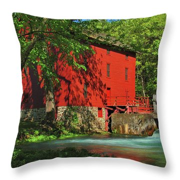 Alley Spring Mill Throw Pillow