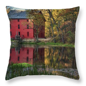 Alley Spring Mill Fall Mo Dsc09240 Throw Pillow