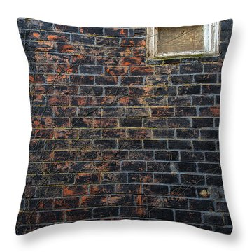 Alley Window Throw Pillow