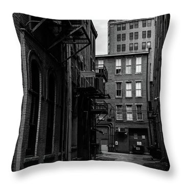 Throw Pillow featuring the photograph Alleyway I by Break The Silhouette