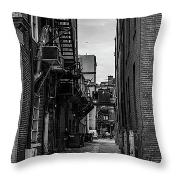 Throw Pillow featuring the photograph Alleyway II by Break The Silhouette