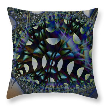 Allien Gears Throw Pillow by Frederic Durville