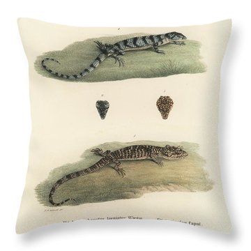 Alligator Lizards Throw Pillow