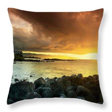 Alligator Rock Sunset Throw Pillow