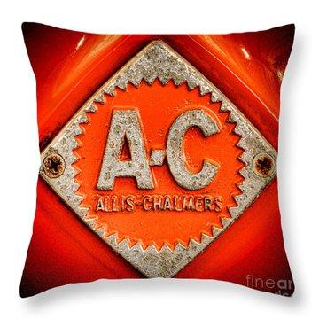 Allis Chalmers Badge Throw Pillow