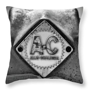 Allis-chalmers Logo - Bw Throw Pillow